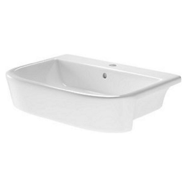 Wickes Galeria 1 Tap Hole Semi Recessed Bathroom Basin 550 mm