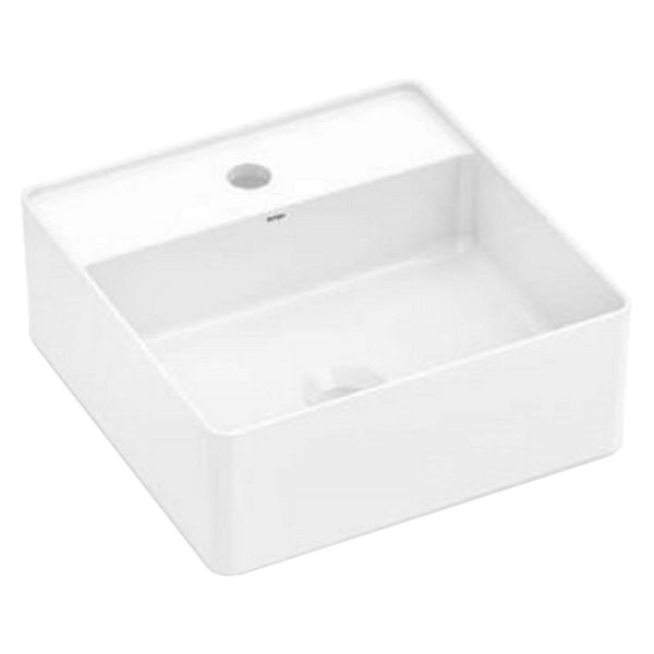 Wickes Platinum 1 Tap Hole Square Countertop Bathroom Basin - 350mm