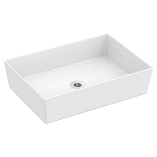 Wickes Platinum Rectangle Countertop Bathroom Basin - 510mm