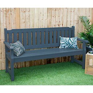 Forest Garden Rosedene 5ft Bench - Anthracite Grey