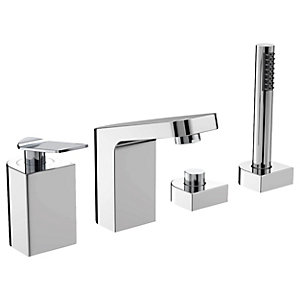 Bristan Alp 4 Hole Deck Bath Shower Mixer Tap - Chrome