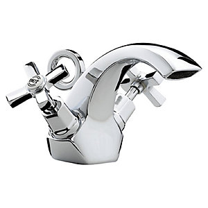 Bristan Art Deco Mono Basin Mixer Tap With Dual Ceramic Disc Valves - Chrome