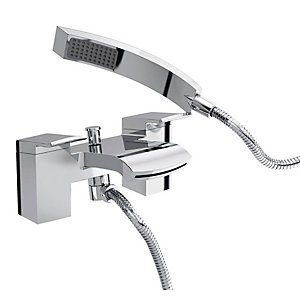 Bristan Descent Bath Shower Mixer Tap - Chrome