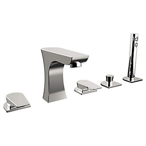Bristan Hourglass 5 Hole Deck Bath Shower Mixer Tap - Chrome