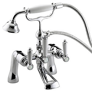 Bristan Renaissance Dual Valve Bath Shower Mixer Tap - Chrome