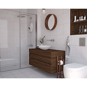 Wickes York White Ceramic Wall & Floor Tile 300 x 300mm