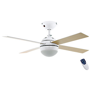 Image of Eglo Losciale Shiny White Ceiling Fan