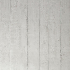 Image of Contour White Wood Effect Wallpaper 10m