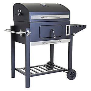 Image of American Grill Steel Charcoal BBQ Black