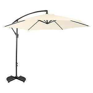 Charles Bentley Hanging Cantilever Parasol 3M Cream