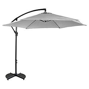 Charles Bentley Hanging Cantilever Parasol Light 3M Grey