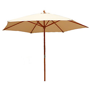 Charles Bentley Wooden Parasol 2.4M Cream
