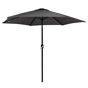 Charles Bentley Metal Parasol With Crank & Tilt 2.7M Grey