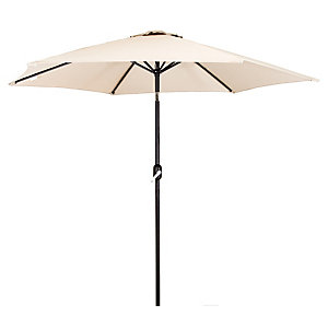 Charles Bentley Metal Parasol With Crank & Tilt 2.7M Cream