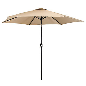 Charles Bentley Metal Parasol With Crank & Tilt 2.7M Beige