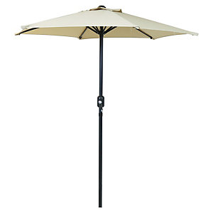 Charles Bentley Metal Parasol With Crank 2M Beige
