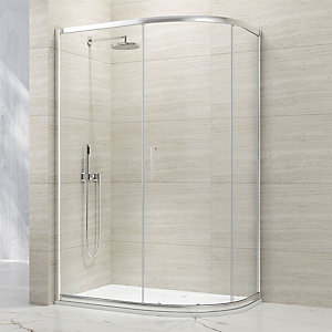 Nexa By Merlyn 8mm Offset Quadrant 1 Door Sliding Shower Enclosure - 1200 x 800mm