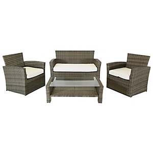Charles Bentley 4 Seater Rattan Furniture Set In Natural