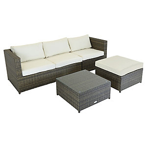 Charles Bentley Corner Sofa Lounge Set Natural