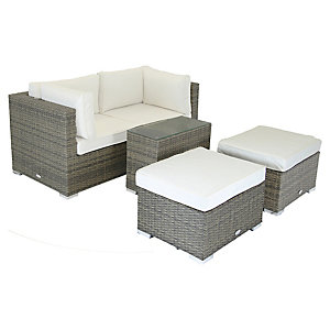 Charles Bentley Multifunctional Contemporary Lounge Set Natural
