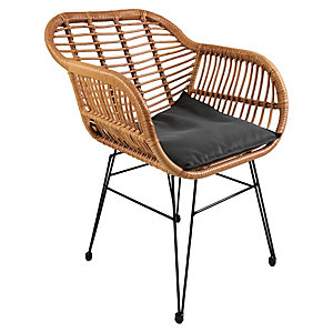 Charles Bentley Natural Wicker Bistro Set
