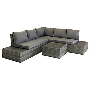 Charles Bentley Rattan & Polywood Corner Lounge Set