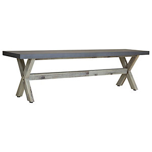 Charles Bentley Fibre Cement & Acacia Wood Dining Bench