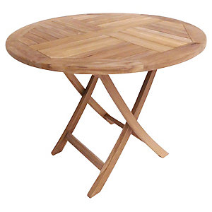 Charles Bentley 2-4 Seater Teak Wooden Round Table