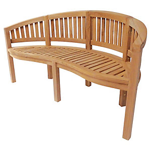 Charles Bentley 3 Seater Teak Wooden San Diego Bench