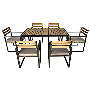Charles Bentley Extrusion Aluminium Dining Set Grey