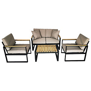 Charles Bentley Extrusion Aluminium Lounge Set Grey