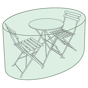Small Round Tarpaulin Garden Furniture Set Cover Green