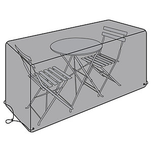 Rectangular Waterproof Bistro Set Cover Black