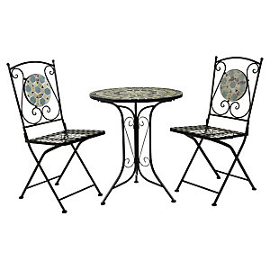 Charles Bentley Blue Mosaic Bistro Set