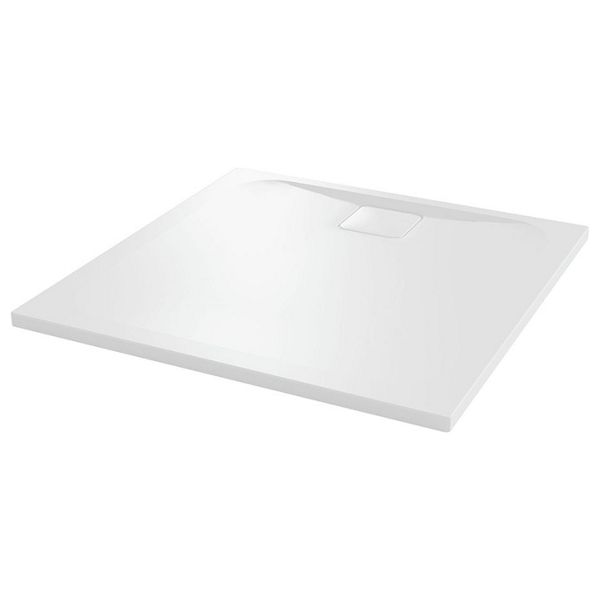 25mm Square Low Level White Tray