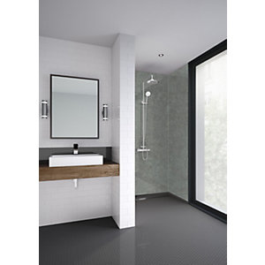 Image of Mermaid Brutalist Laminate Single Shower Panel Shower Panel - 2400 X 900mm
