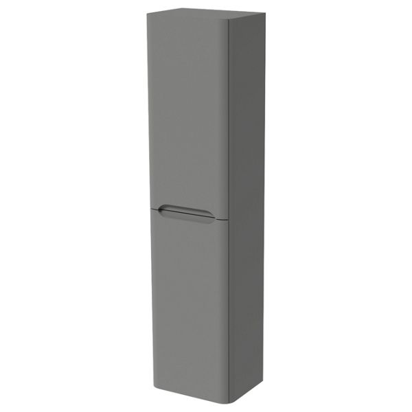Wickes Malmo Dust Grey Wall Hung J Pull Tower Unit - 1600 x 400mm