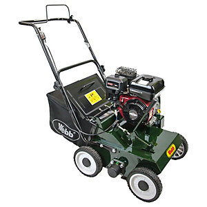 Image of Handy 38cm Petrol lawn scarifier with 22 Handy reversible steel flails & collector