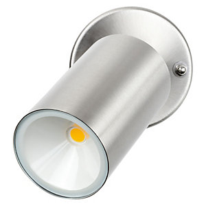 Luceco LED Single Head Adjustable Wall Light Stainless Steel 4W