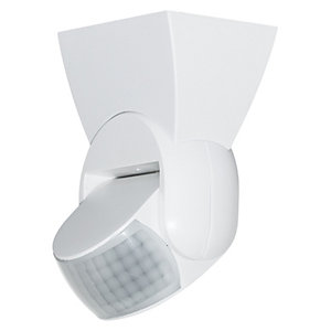 Luceco Guardian PIR Tilt Day & Night Wall Light White IP65