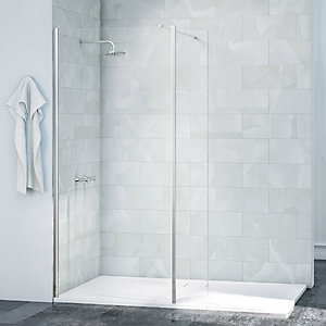Merlyn Nexa Frameless Swivel Shower Panel Chrome-2015 x 300mm