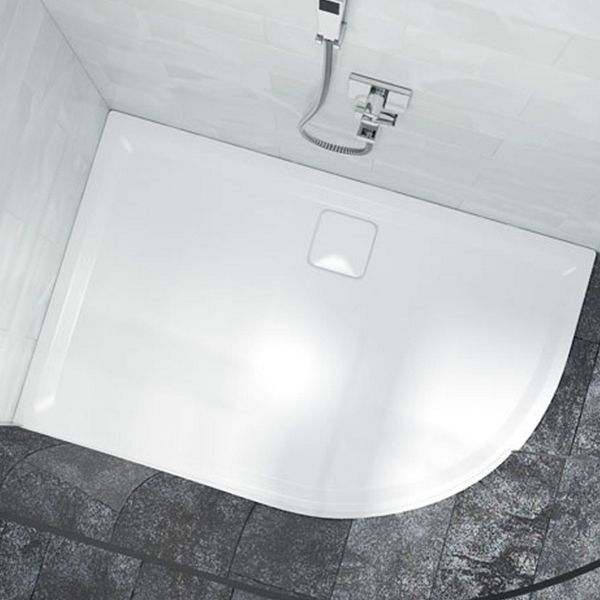 Quadrant Low Level Right Hand White Shower Tray