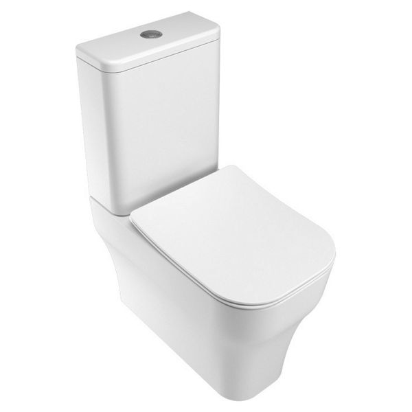 Wickes Siena Easy Clean Close Coupled Toilet Pan & Soft Close Slim Sandwich Seat - 360mm