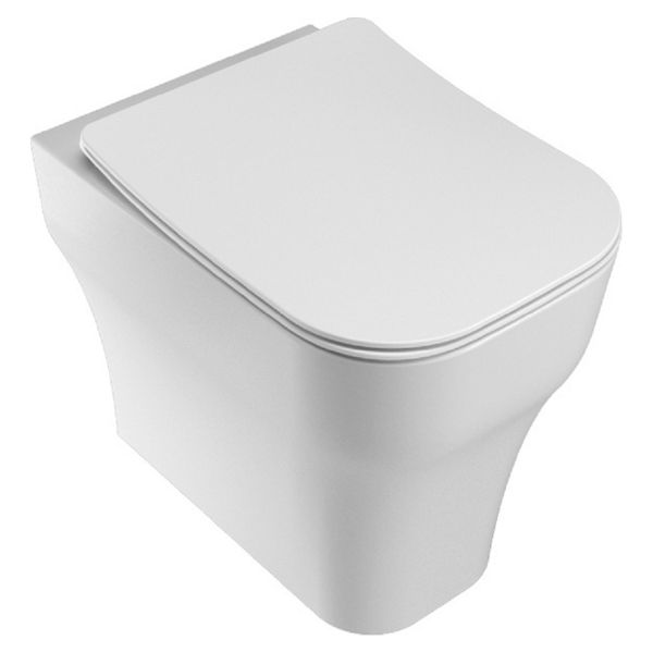 Wickes Siena Easy Clean Back To Wall Furniture Pan & Soft Close Slim Sandwich Seat - 360mm