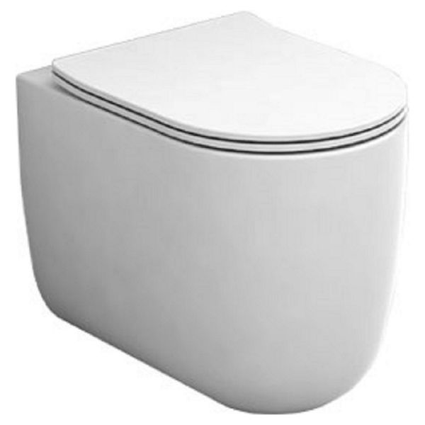 Wickes Teramo Easy Clean Back To Wall Furniture Pan & Soft Close Slim Sandwich Seat - 360mm