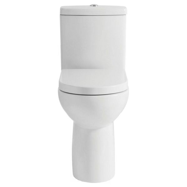 Wickes Phoenix Comfort Height Close Coupled Toilet Pan, Cistern & Soft Close Seat