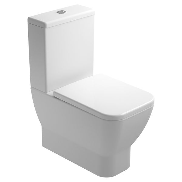 Wickes Emma Easy Clean Close Coupled Toilet Pan, Cistern & Soft Close Seat