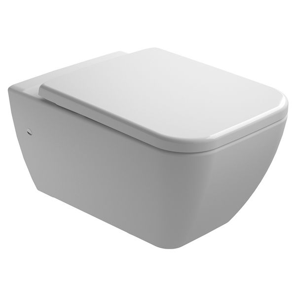 Emma Easy Clean Wall Hung Toilet Pan & Soft Close Seat