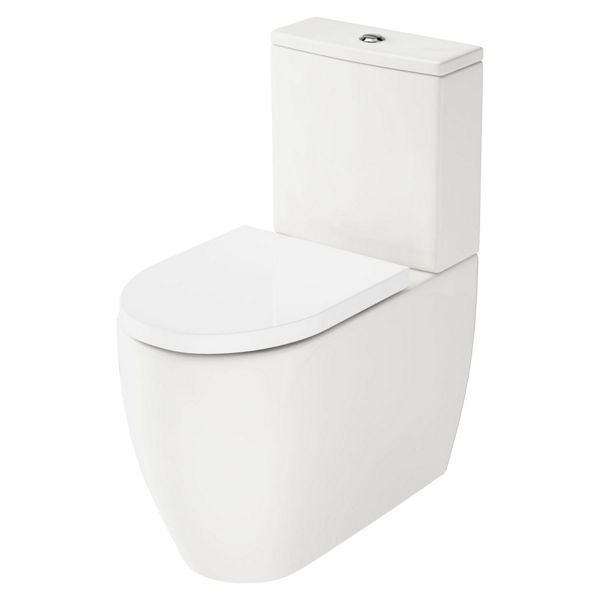 Wickes Galeria Fully Shrouded Close Coupled Toilet Pan, Cistern & Soft Close Seat