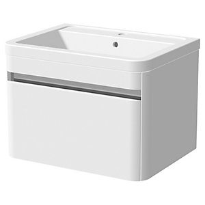 Wickes Radli Wall Hung Vanity Unit & Basin - 600mm